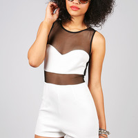 Siren Mesh Romper   Sexy Rompers at Pink Ice
