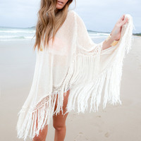 The Girl and The Water - aila blue, byron bay, poncho, moss, ivory, bamboo, bali