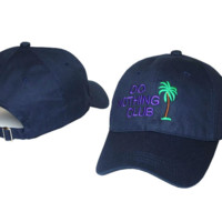 Navy Blue Do Nothing Club Embroidered Adjustable Cotton Baseball Golf Sports Cap Hat