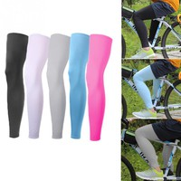 1 Pair Sunscreen Breathable Cycling Legwarmers Running Hiking Unisex Elastically Protector Sports Leg Sleeves