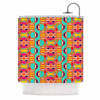 "Miranda Mol ""Summer Fun"" Treal Orange Shower Curtain"