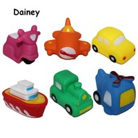 1PC Bath Toys in the Bathroom Baby Toy for Children Water Spray Animal Soft Rubber Car Plane Toys Swimming Pool Toys MYT04