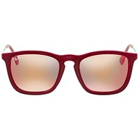 Ray Ban Chris Red Mirror Square Sunglasses RB4187 60786Q 54
