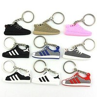 Cute Silicone Yeezys 750 Yeezy 350 Boost Keychain Jordan Key Chains Sneaker Key Rings