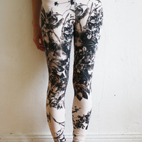 super-long, super-soft flower leggings