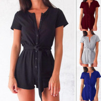 single-breasted jumpsuits
