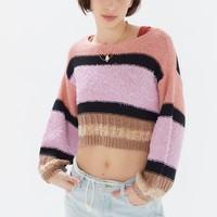 UO Beau Striped Boat Neck Sweater | Urban Outfitters