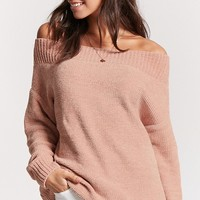 Off-the-Shoulder Chenille Sweater