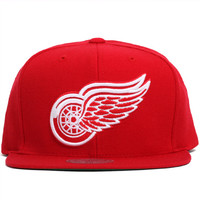 Detroit Red Wings Solid Snapback Hat Red