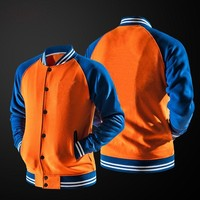 Solid Color Orange Men Jackets 2018 Autumn Casual Jacket Male Bomber Jacket Men Coat Hipster Men's Jackets Slim Fit Sportwear