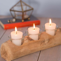 ModCloth Rustic Driftwood You Join Me Votive Candle Holder