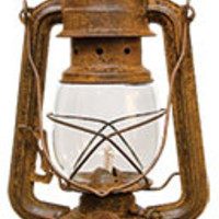 Antique, Rusty Barn Tin Lantern