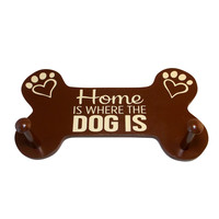 Home is Where the Dog is Leash Holder