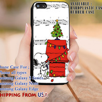 Let's Sing Jingle Bells iPhone 6s 6 6s+ 5c 5s Cases Samsung Galaxy s5 s6 Edge+ NOTE 5 4 3 #cartoon #animated #TheCharlieBrown dl8