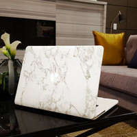 "White Marble Case Best Protection Tech Rubberized Hard Shell Matte Nanometer Cover for MacBook Air 11.6""  , Air 13.3 , Pro 13.3"" , Pro 15.4"" , Retina 15.4"" , Retina 13.3"" , Retina 12"""