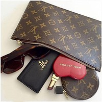 Hipgirls LV Louis Vuitton Fashionable Women Monogram Coin Bag Key Bag Zipper Wallet I/A