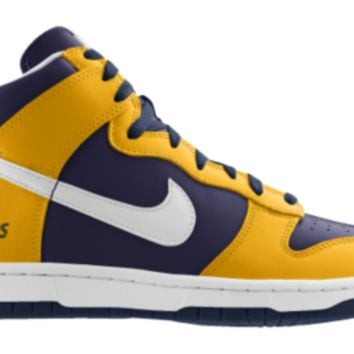 Nike Dunk High NFL San Diego Chargers iD Custom Men's Shoes - Gold