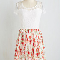 Mid-length Short Sleeves A-line Accolade for Adorableness Dress by ModCloth