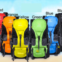 Outdoor Sport Travel Backpack Unisex Hiking Mountain Camping Bag 50L Trekking