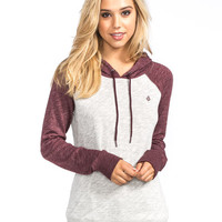 Volcom Lived In Womens Hoodie Cabernet  In Sizes