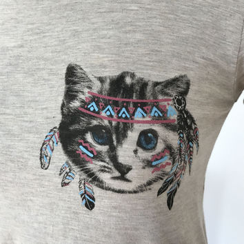 Tribal Kitty Cat Top