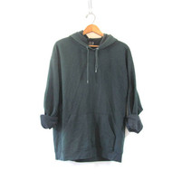 vintage hooded sweatshirt. pullover sweater. size L