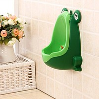 Comcl Frog Children Potty Toilet Training Kid Urinal for Boy Pee Trainer Bathroom Green
