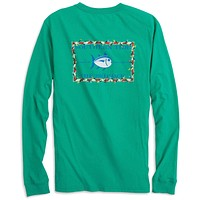 Holiday Skipjack Long Sleeve Tee Shirt in Augusta Green by Southern Tide