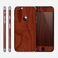 The Red Mahogany Wood Skin for the Apple iPhone 6