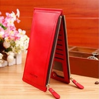 2016 Fashion Luxury Women Wallets Ultra-large Capacity Double Zippers Lady Purses Clutch Card Holders [9145129990]