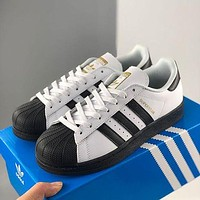 Adidas Ad Originals Superstar W Shell Toe Classic All-match Casual Sports Small White Board Shoes