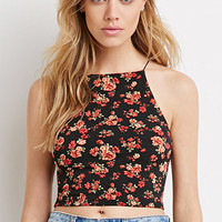 Rose Print Cropped Cami