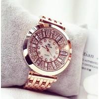 Fashion Women Watches Rose Gold luxury brand geneva Diamond Women Rhinestone Watches Lady Dress Watches sport relogio feminine