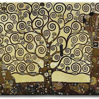 Stoclet Frieze Tree of Life Tapestry Wall Art