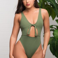 PARADISE COVE Swimsuit - Olive