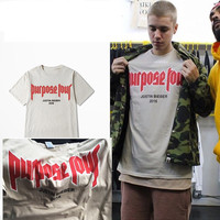 vfiles justin bieber fear of god Purpose Tour tee men and women