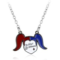 Suicide Squad Harley Quinn Charm Elegant necklace Pendant Fashion Batman Necklace jewelry For Women Christmas Gifts