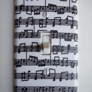 Musical Notes Single Toggle Switchplate switch plate