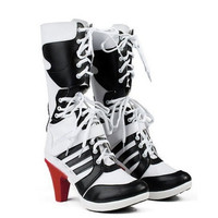 Suicide Squad Harley Quinn Cosplay Black&White Shoes