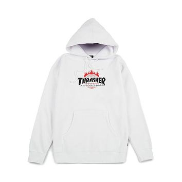 Thrasher Unisex Fashion Casual Pattern Print Long Sleeve Hooded Top Sweater Hoodie