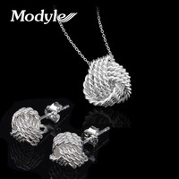 Engagement Jewelry Set Brand Bridal Jewelry Sets For Women Pendant Necklace/Stud Earrings Wedding Jewelry Set