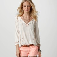 AE Embroidered Boho T   American Eagle Outfitters