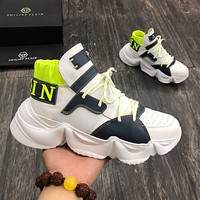 PHILIPP PIEIN  Men Fashion Boots fashionable Casual leather Breathable Sneakers Running Shoes