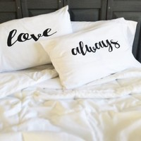Oh, Susannah Love Always Couples Pillowcases Romantic Valentines Gift For Couples Wedding Gift Anniversary Gift For Her or Him His and Hers Gifts