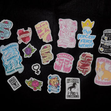 Assorted Feminist Art Sticker Pack