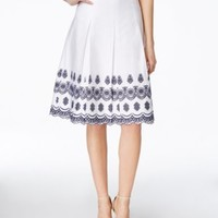 Charter Club Petite Pleated Embroidered Skirt, Only at Macy's   macys.com