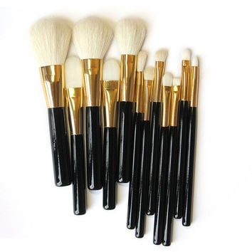 12pcs Professional Makeup Brush Sets Cosmetics Brushes Eyebrow Eye Brow Powder Lipsticks Shadows Make Up Tool Kit