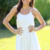 At Ease Dress - Ivory