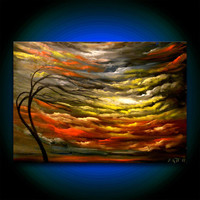 cloud tree painting large oil painting abstract by mattsart