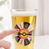 Spin It To Win It Pint Glass   Urban Outfitters
